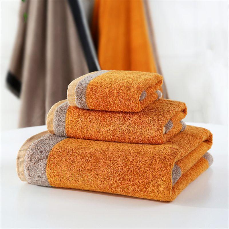 Großhandel Baumwolle Verdickung weichen, saugfähigen Haushaltstücher 34 * 75cm Erhöhung Handtuch Geschenke Arbeits-Werbung Handtücher angepasst werden können