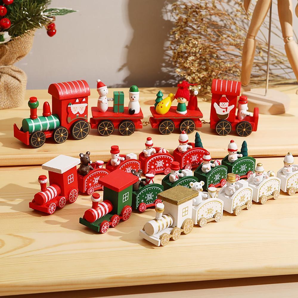 PATIMATE legno Regali treno 2020 decorazioni per la casa natale Navidad Noel Natale Capodanno 2021