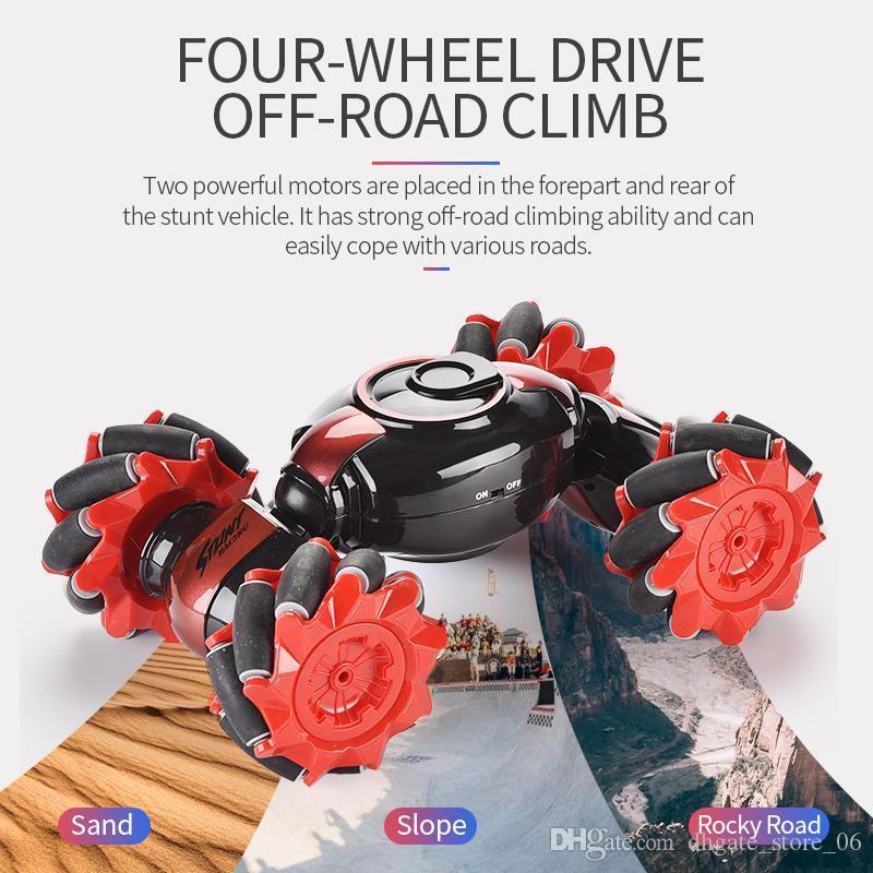 giocattoli per bambini Gesto Sensore telecomando RC Fuoristrada doppio lato guida Stunt Car a 360 ° di rotazione per i bambini per divertimento