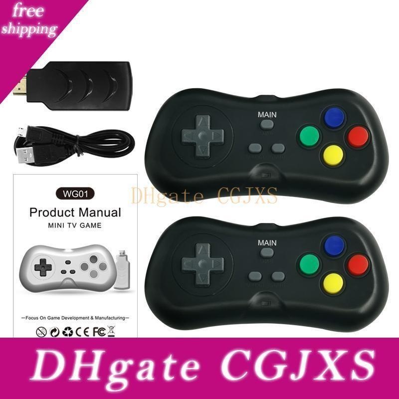 WG01 Wireless-Super-Mini-TV-Video-Game-Spieler Konsole mit Gamepad Handheld-Player für Kinder Geschenk Spielkonsole 2 .4G