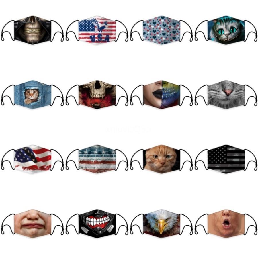 Anti-Staub-Gesichtsmaske PM2.5 Staubdicht Waschbar Wiederverwendbare Ice Silk Cotton Maske Gesicht Mund-Maske 100Pcs # 166