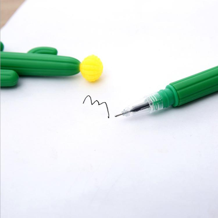 الصبار جل القلم kawaii الأخضر النبات هلام القلم لطيف القلم للمدرسة مكتب طالب الكتابة هدية القرطاسية