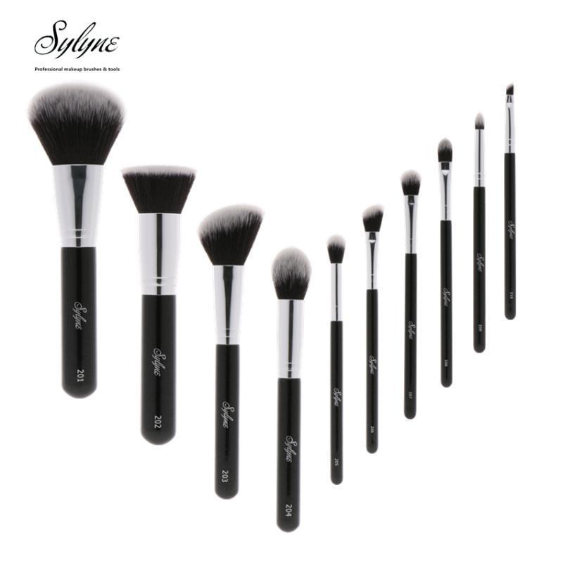 Pennelli per il trucco Sylyne Pennello professionale Set di alta qualità 10pcs Classic Black Handle Handle Make Up Tools Tools.