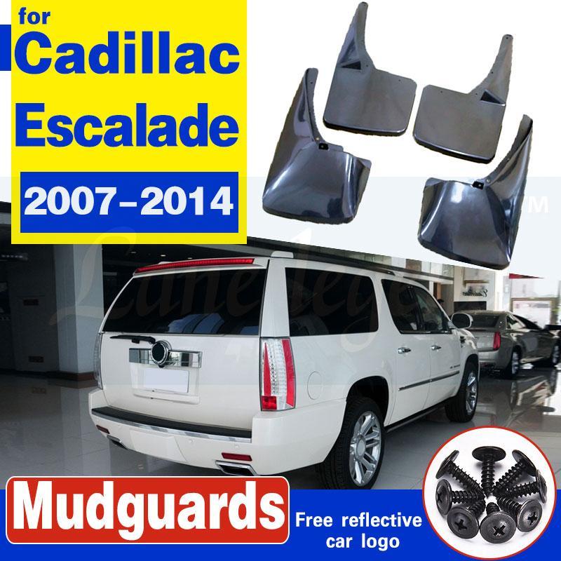 Auto-Schmutzfängern für Cadillac Escalade 2007-2014 GMT900 Mudflaps Spritzschutz Schmutzfänger Kotflügel Fender 2008 2009 2010 2011 2012