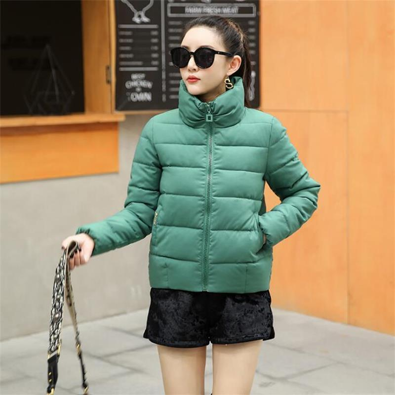 Woman Winter Jacket Plus Size S-5XL Autumn Warm Parka Stand Collar Wadded Coat Female Ladies Solid Padded Clothing Lady