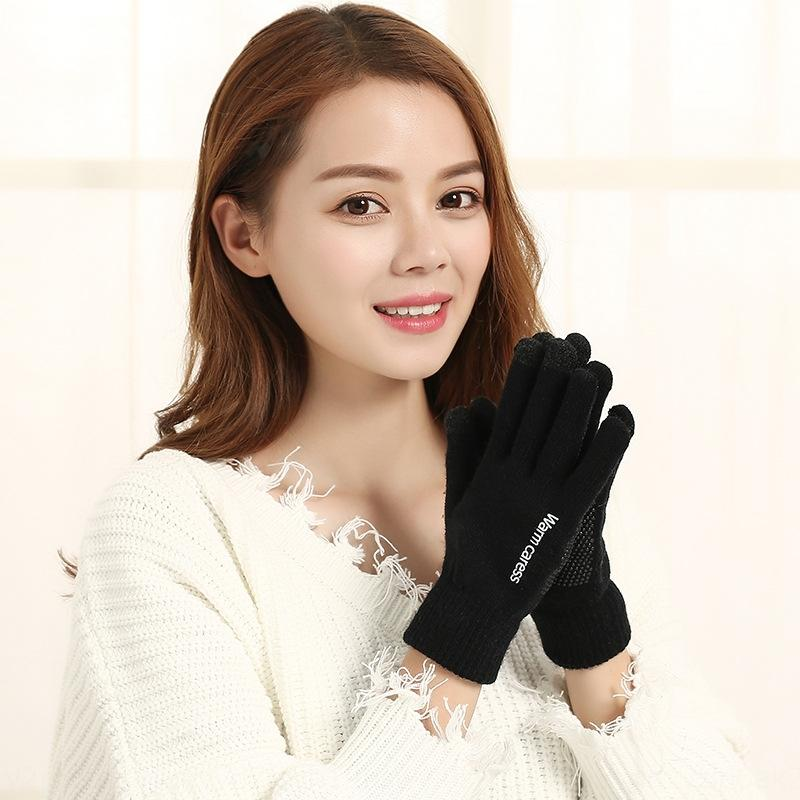Winter New dispensing touch screen Warm and gloves for women couple gloves non-slip warm wool knitted for men m55tg