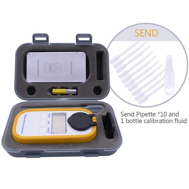 Konsantrasyon Metre Dijital Ekran Brix0-50% Şeker Ölçer Refraktometre DR101 Tester Meyve Tatlılığı