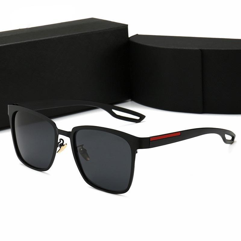 Мужские Модельер поляризованные очки новых женщин Роскошные солнцезащитные очки UV400 Солнцезащитные очки с футляром и Box