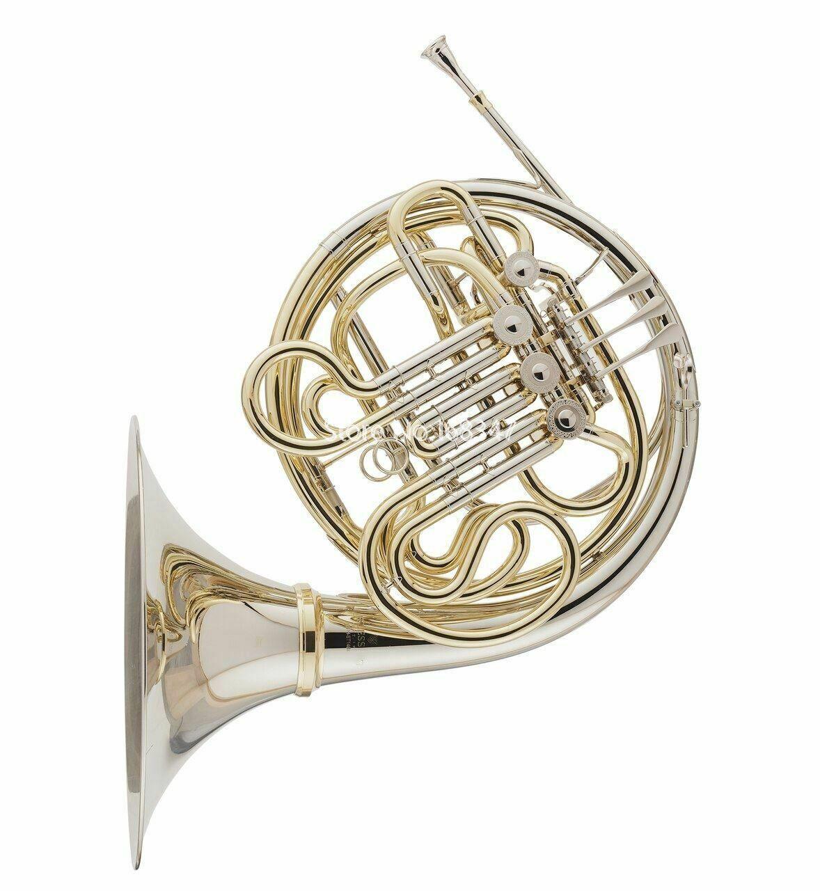 Vaka Ücretsiz Kargo ile Yüksek Kalite Bb / F dört tuşları Fransız Horn Nikel Gümüş Bell Temizle Vernik Bitiş Müzik aleti