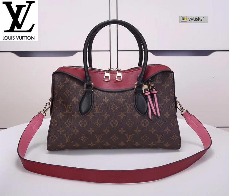 vvtisks1 081W Fuchsia M41455(A4EF) Women HANDBAGS ICONIC BAGS TOP HANDLES SHOULDER BAGS TOTES CROSS BODY BAG CLUTCHES EVENING