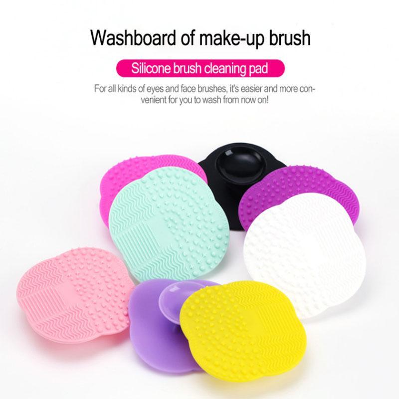 Atacado Maquiagem Silicone Escovas Limpa Silicone escova de limpeza Pad Scrub Mat escova da composição Ferramentas de lavagem Pad