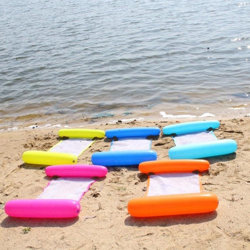 Été eau Hamac piscine gonflable Tapis Jouets Radeaux flottant Lit Salon Piscine Gonflable flottant Chaise Lit LJJK2146 bwC3 #