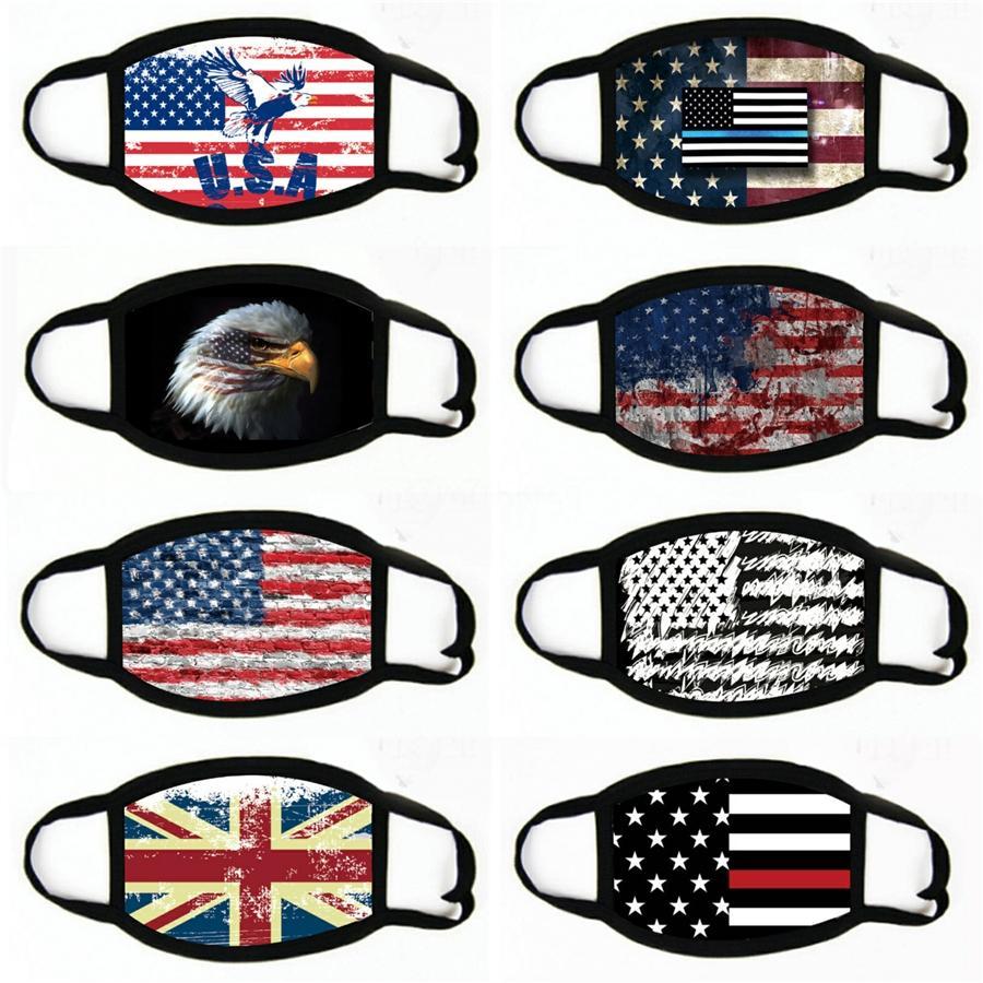 América Máscara Facial Bandeira Nacional Adulto Mascarilla Respiradores ajustável Dustproof Boa Hot Sale # 386