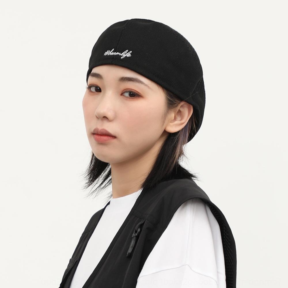 Allgleiches Hip-Hop-Brief bestickte Maler Hut hohl-out Zipfelmütze Barett Maler Hut Baskenmütze Art und Weise neue kulminierte koreanischen Kappenart