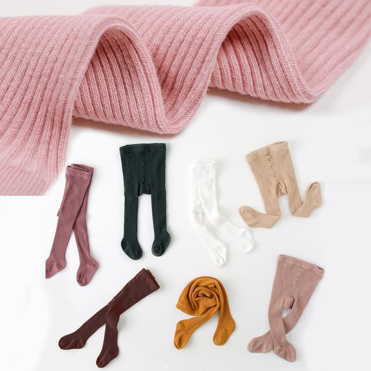 Малыш младенческий ребенок ребенок девочка колготки хлопок теплые чулки брюки чулочные хозяйственные тюбики сплошной вскользь осень зима