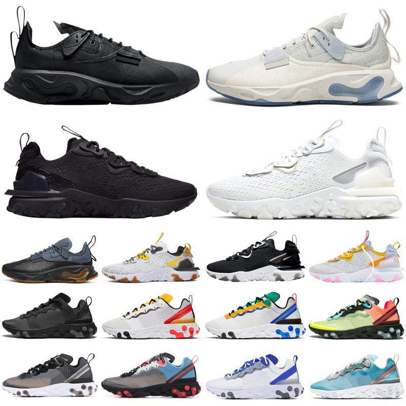 react vision type N354 Gore-Tex element 55 87 uomo donna scarpe da corsa triple nere outdoor uomo donna scarpe da ginnastica sportive sneakers runners