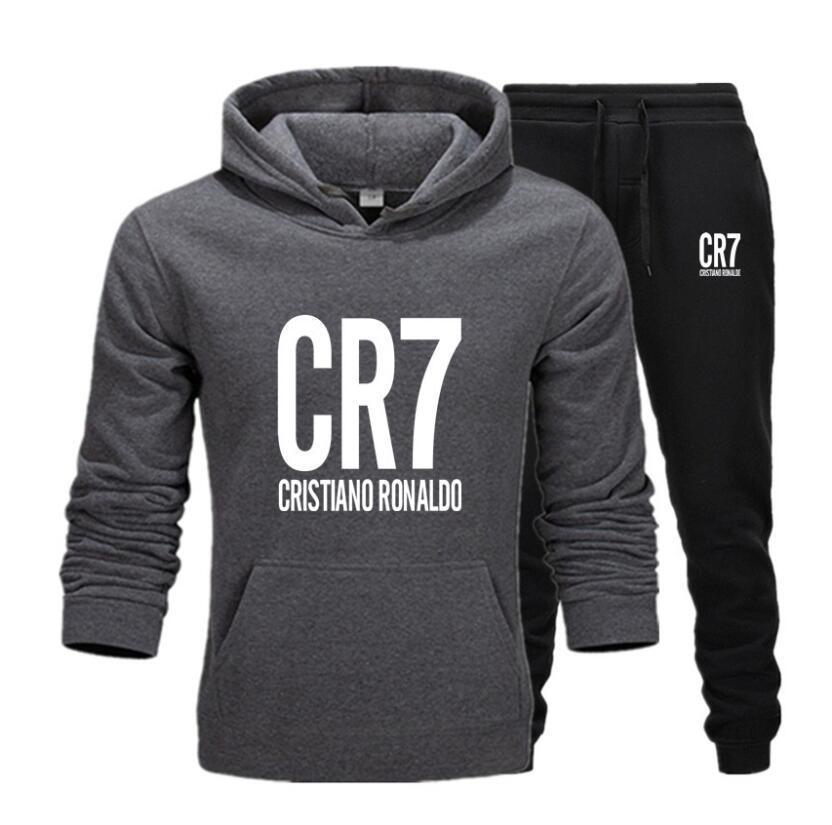 Trend CR7 sweatsuit Designer Tracksuit Women Men hoodies + pants Mens Clothing Sweatshirt Pullover Casual Tennis Sportswear Suit Sweat Suits