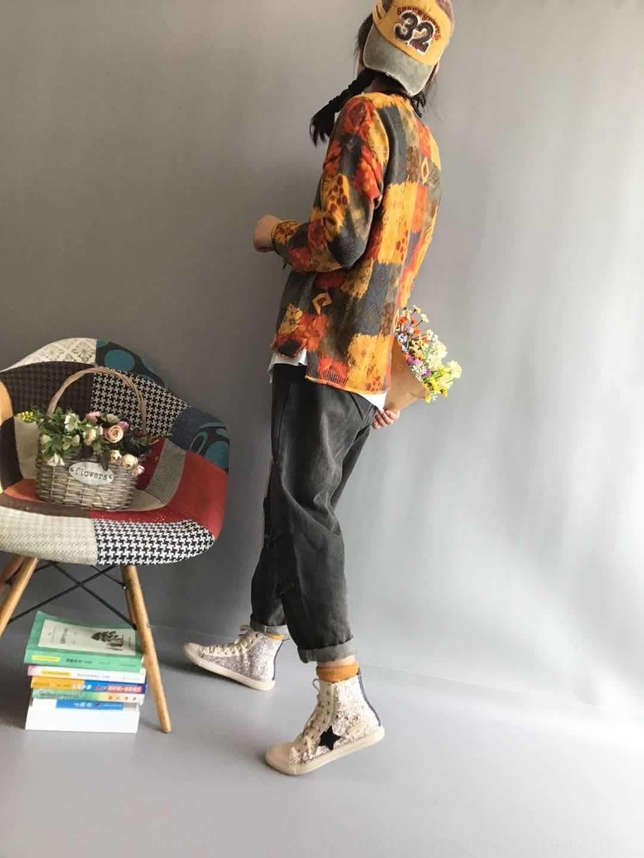 9sj6t g9kzg Otoño Nueva floja ocasional del todo-fósforo ocasional rebeca de la tapa de las mujeres 2020 otoño del todo-fósforo flojo artística artística géneros de punto tejidos de punto Nuevo