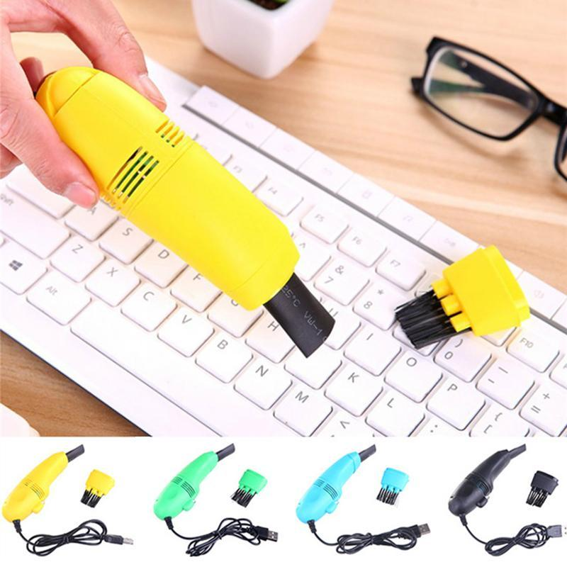 Mini Portable Computer Keyboard Vacuum Cleaners USB Keyboard Cleaner PC Laptop Brush Dust Cleaning Kit Vaccum Computer Clean Tools