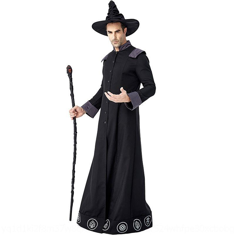 kaixG YQBvg Tüm Bilgeler Karnaval parti elbise büyücü çılgın giyim Elbise elbise performans kostüm sahne sc performanc Magic sihirbazı kötülüğü oynar