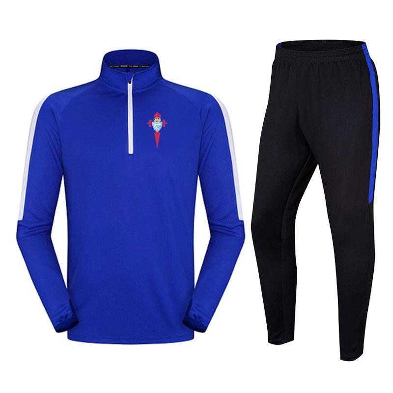Real Club Celta de Vigo S.A.D Traje de fútbol para hombres suelto y cómodo Traje de entrenamiento para correr al aire libre Otoño e invierno Trajes de fútbol