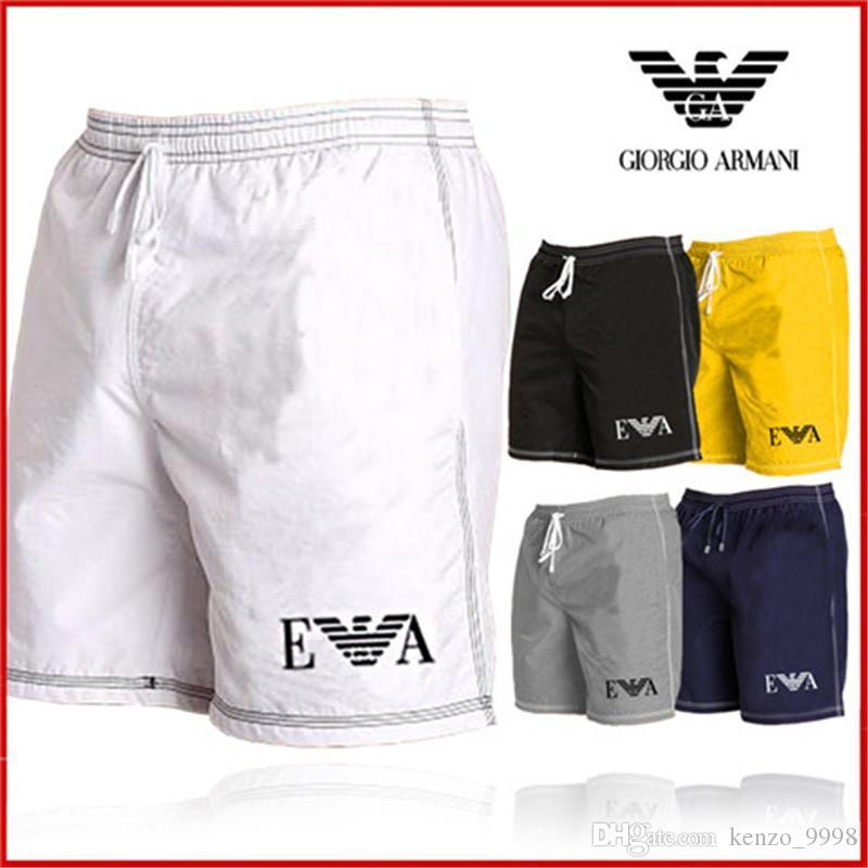 Мужские летние дизайнерские Шорты повседневные спортивные брюки лето быстрое высыхание мужские брюки пляж Черный и белый азиатский размер M-2XL