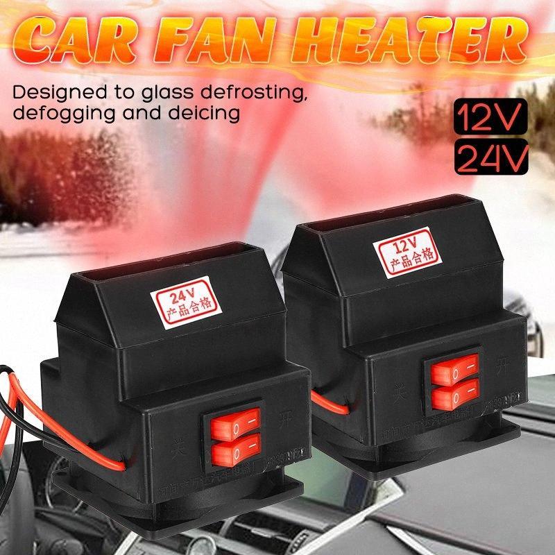 300 / 400W 12 / 24V Defroster Demister Heizung PTC Auto-LKW-Heizung Ventilator Heizung Wärmer Windschutzscheibe Elektrische Heizung DXGI #