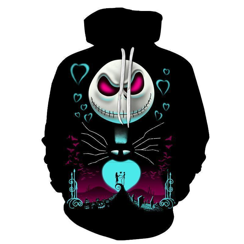 The Nightmare Before Costumes Jack Natal Crânio Cosplay Hoodie Homens Mulheres Moda Suéter O Dia das Bruxas Tops MX200813