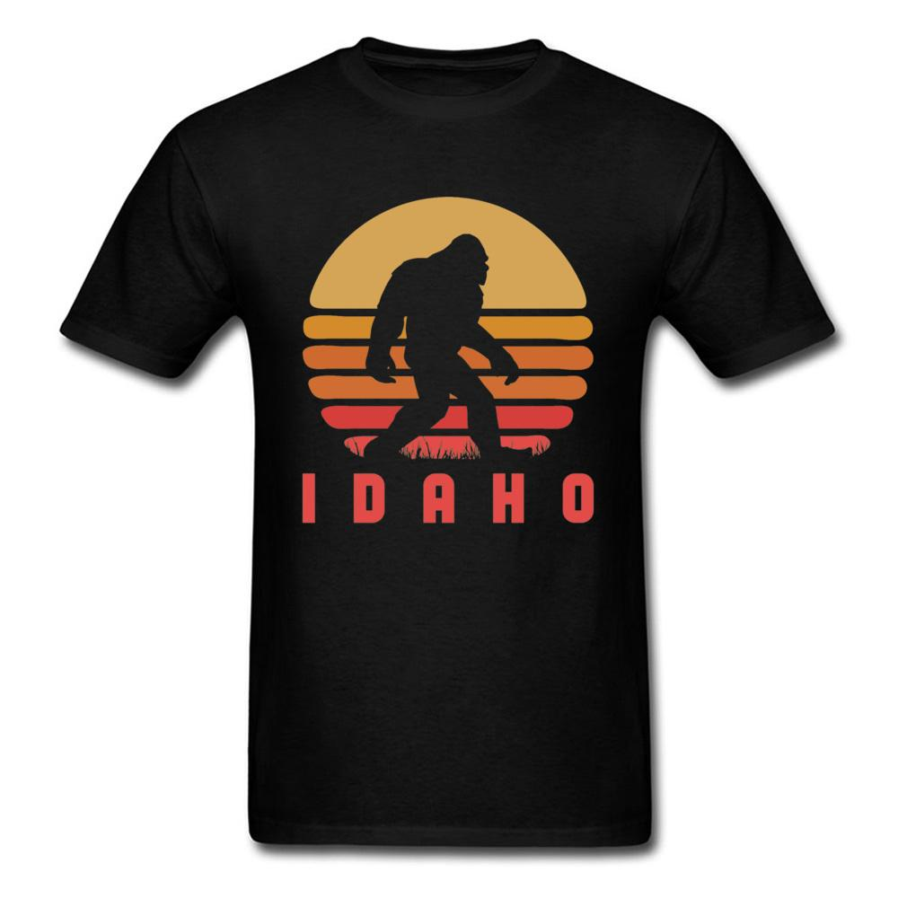 Bigfoot штат Айдахо Sasquatch игра тенниска Гавайи Закат Урожай Tshirts для мужчин Мода для печати Нового Фитнеса Хлопок Топов Tee