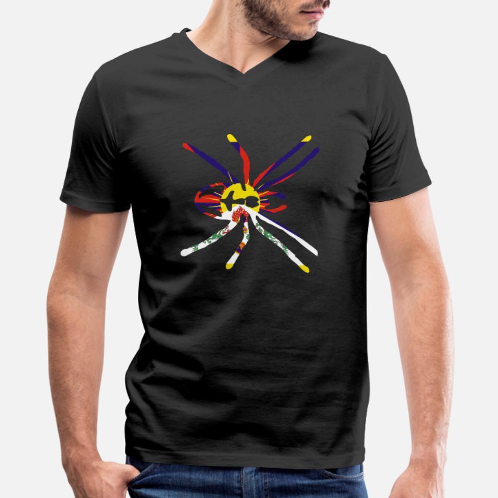 Bandeira Aranha Tibet t shirt homens Character 100% algodão S-XXXL caber camisa Presente engraçado Verão Estilo Tendência