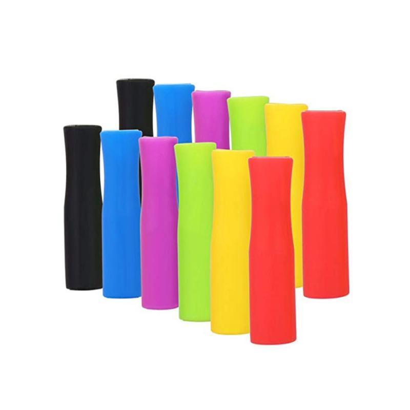 20pcs Denti Protector No Rattle accessori in silicone anti-ribaltamento Masterizzare Caps bar in acciaio inossidabile Straw Prevenire Scald riutilizzabili 6 millimetri