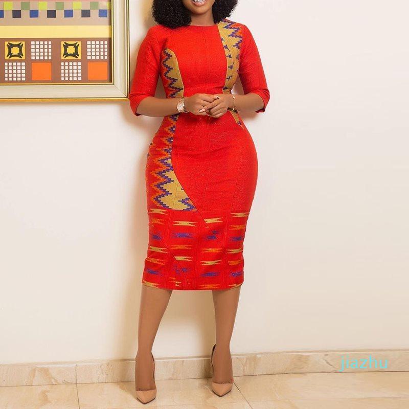Sıcak Satış Sıska Kadınlar BODYCON Elbise Yaz Moda Renk Bloğu Seksi Bölünmüş Elastik İnce Şık Ofis Giyim Casual Kırmızı Kulübü Elbiseler Kadın