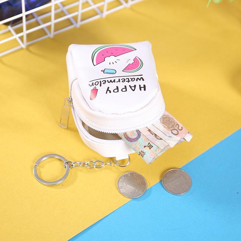 2020 style coréen stockage créatif dessin animé sac de rangement cas clé mini-sac clé des femmes porte-monnaie