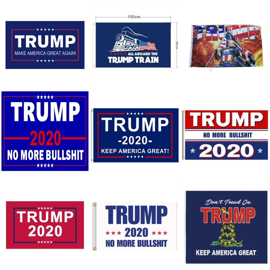 Donald Trump 2020 Bandeira Garden 47 * 32CM Carta de impressão Bandeiras EUA listrado Estrela bandeiras americanas Presidente Geral Bandeira Eleição LJJA3490-2 # 963