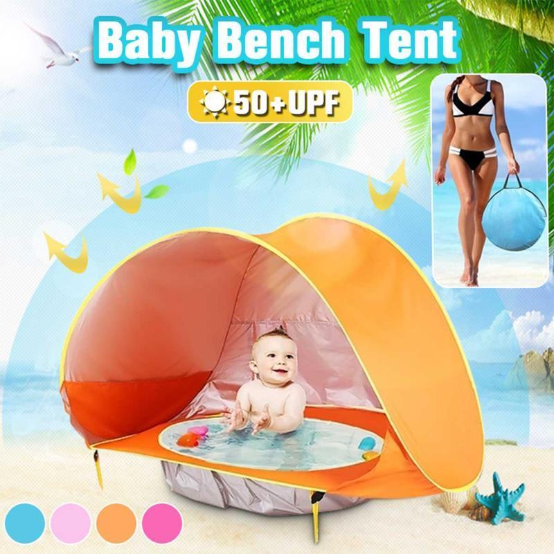 Zelte und Unterkünfte SGODDE Tragbare Babystrand Zelt UV-resistente wasserdichte Schattenpool Outdoor Automatic 'Up Infant Kids Sun Shelter
