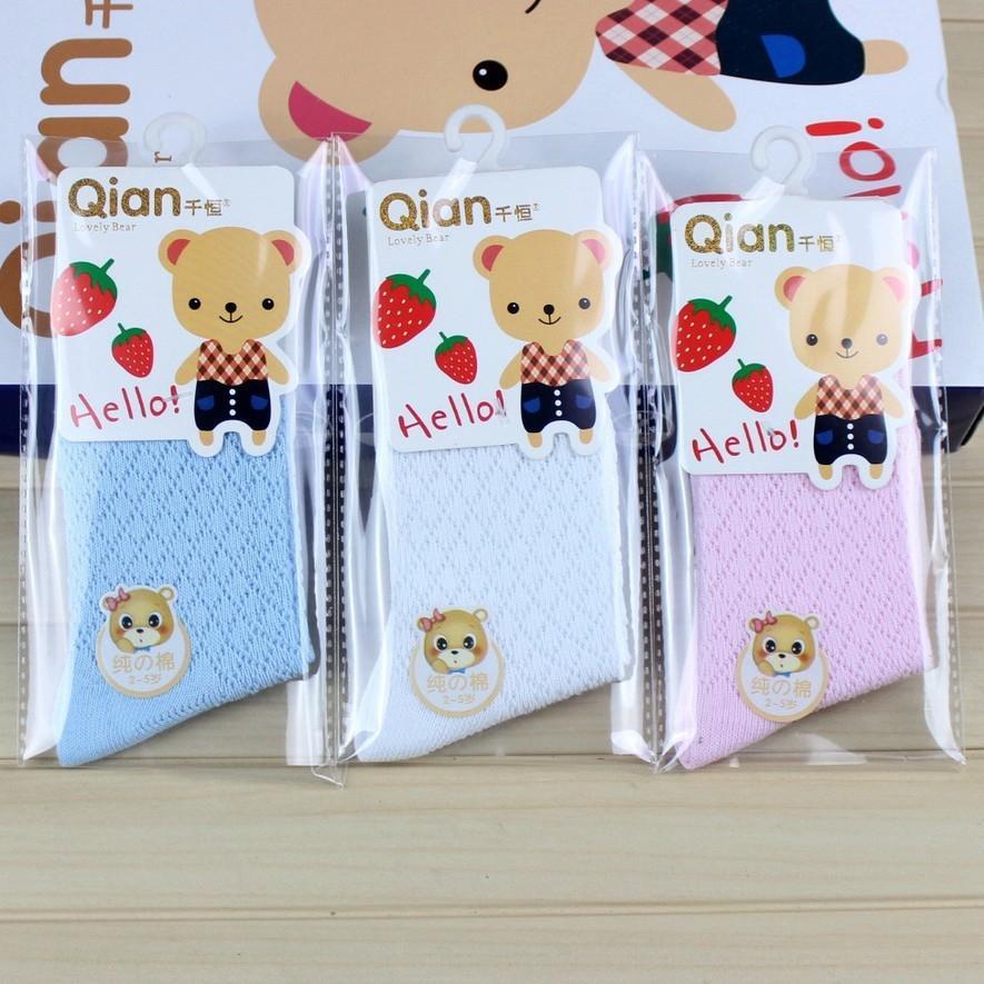 Qianheng детского хлопок дышащей сетки детские равнина носки весной и летом студент носки мальчиков и девочек тонкого хлопка