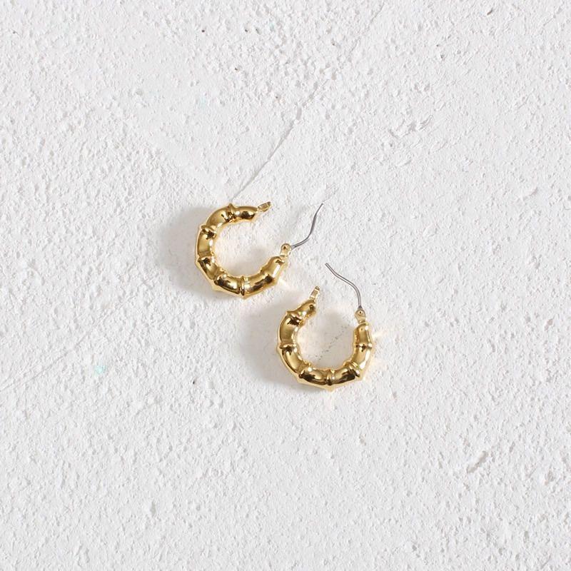 2020 nuevos pendientes plateados de cobre pendientes de metal de oro real de la moda estilo y el color personalizado nicho frío e0tP9