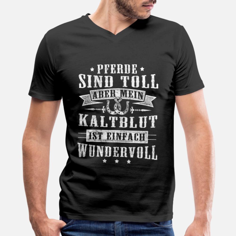 Grand Cheval sang-froid drôle Déclaration allemande cadeau T-shirt des hommes d'impression 100% coton S-XXXL Tendance Intéressant New Style Printemps naturel