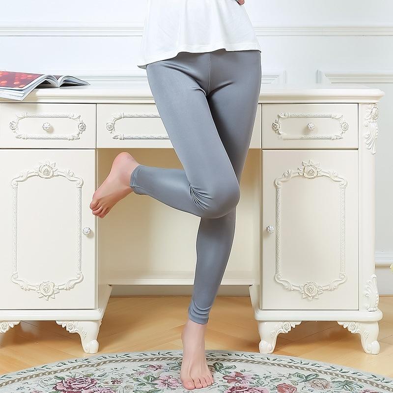 2uyVq los nuevos pantalones de seda de alta calidad pantalones de las polainas del estiramiento de la mora y los pantalones hasta los tobillos flacos de seda de la cadera de la mujer para el desgaste externo
