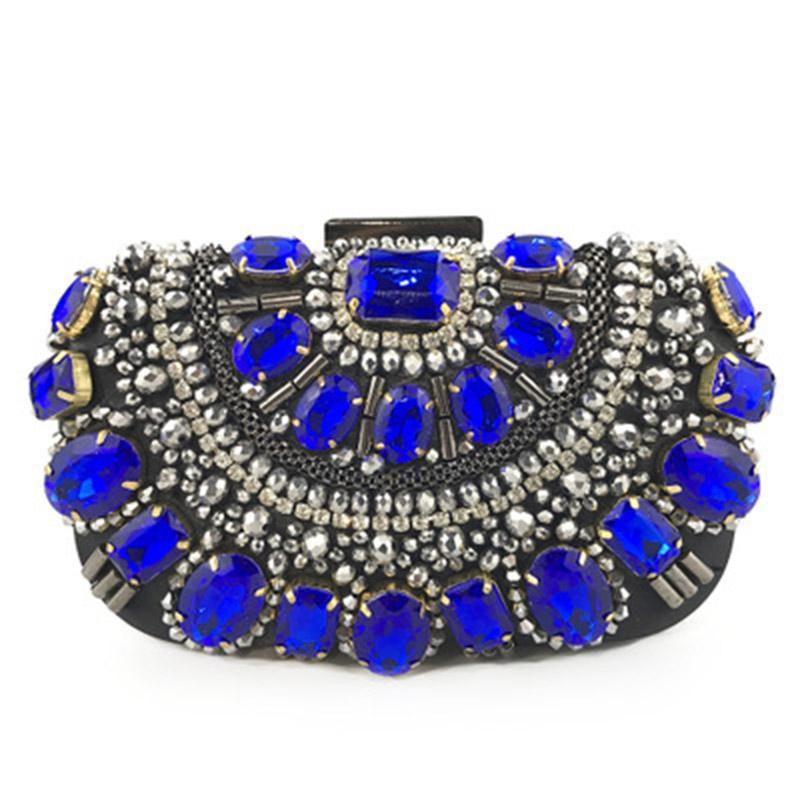 Borsa di borse da festa Nuova sera strass cristallo donna borsa da sposa borsa perline prtbd