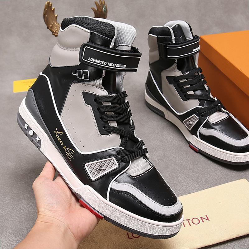 Moda Erkek Ayakkabı Trainer Sneaker Bottes Hommes Lüks Bilek Martin Boots Moda Chaussures Hommes Vintage ile Menşei Kutusu Hızlı Gemi dökün