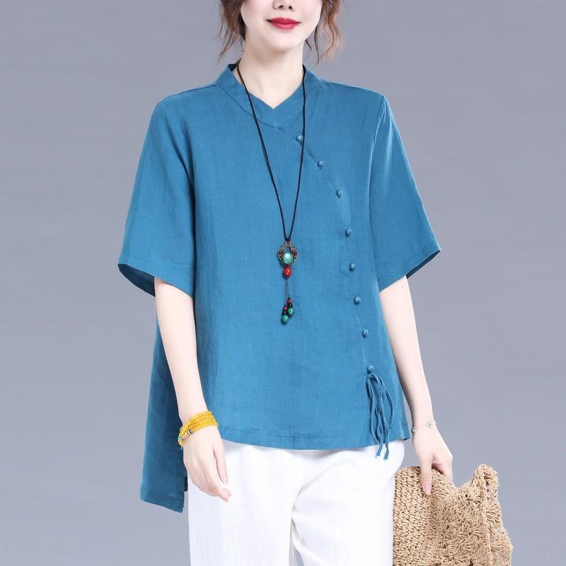 svY7R 2020 neue Sommer-lose beiläufige große Größe kurze Ärmel für Frauen 2020 neue Sommerhemd lose beiläufige große Größe Kurzarm-Shirt für wo