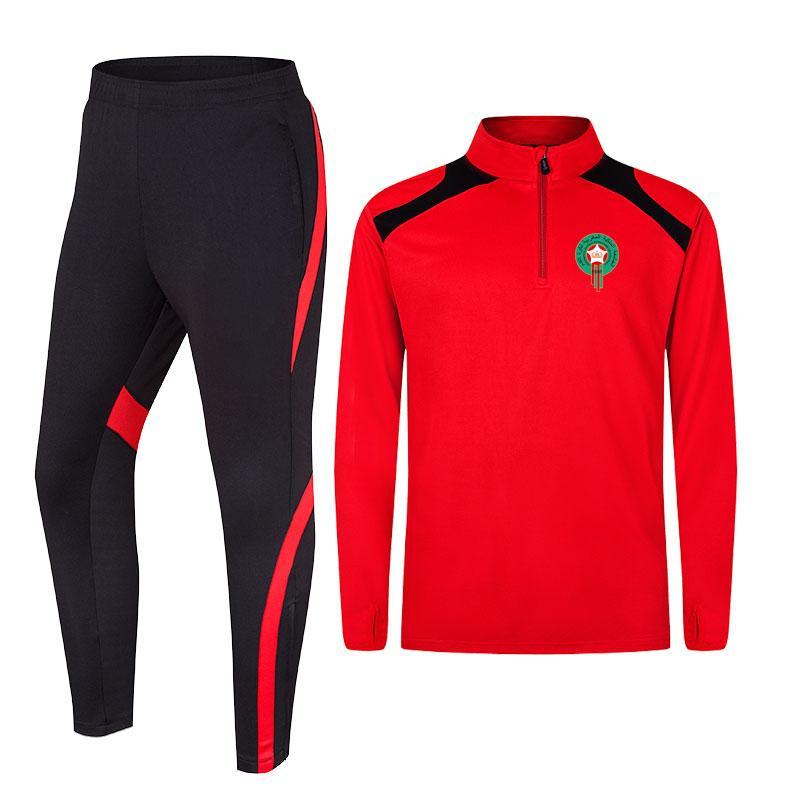 المغرب أعلى 100٪ البوليستر الجملة الرجال تدريب كرة القدم جيرسي رياضية تصميم جديد لكرة القدم جيرسي كرة القدم