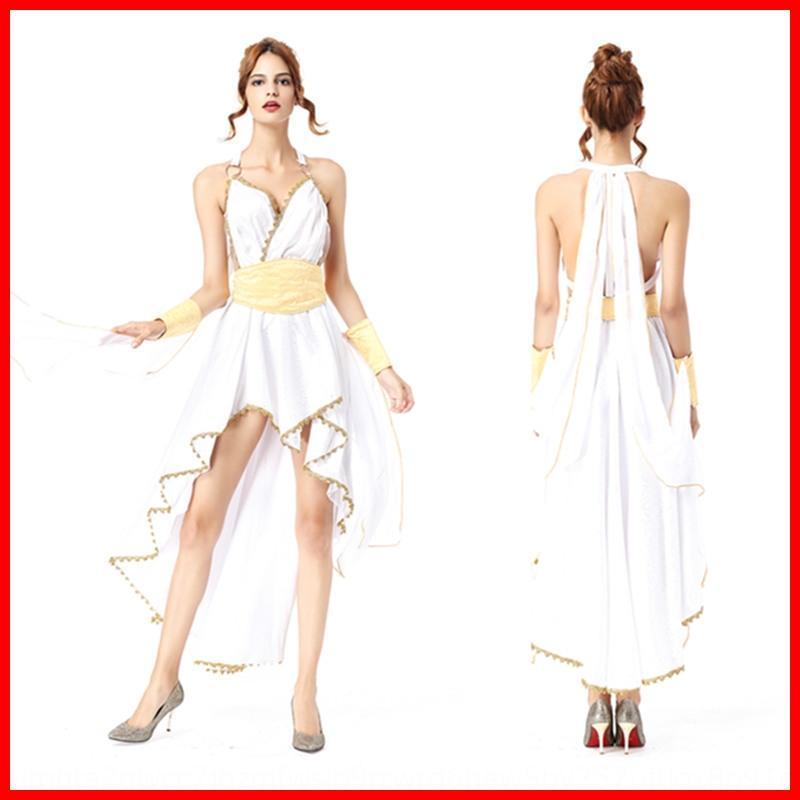 kKTyH grego meninas vestuário uniforme Halloween Athena deusa Deus Arabian de jogo traje desempenho amor rainha egípcia DS