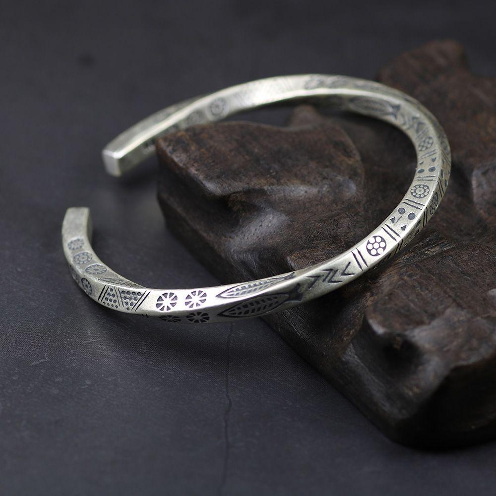 925 Sterling Silver Fish Cuff Bangles For Women torcida Tipo Armband Man moda jóias