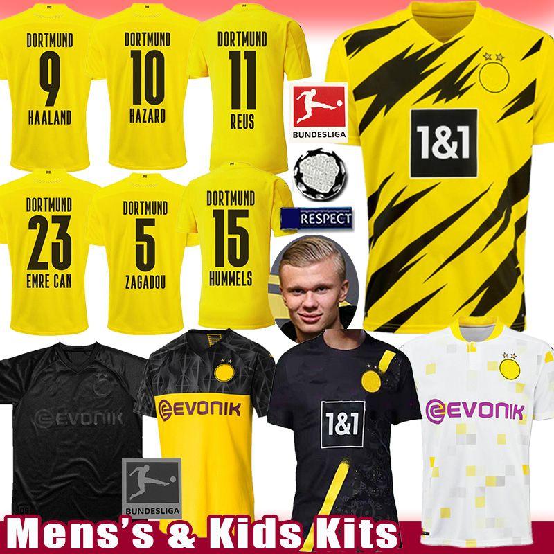 BVB Borussia Dortmund HAALAND Soccer Jersey REUS HAZARD Football Shirt M.GOTZE maillot de foot SANCHO Men's REYNA Kids Kits HAKIMI uniforms