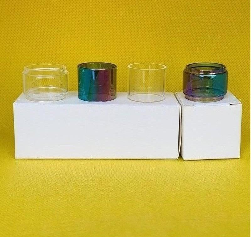 Vaporesso Skrr 8ml Tanque bulbo normal de vidro claro do arco-íris tubo de substituição 1pc / caixa 3pcs / 10pcs / caixa pacote de varejo