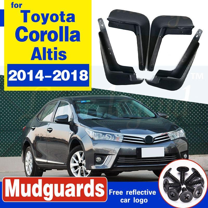 Geformte Autoschmutzfängern für Toyota Corolla Altis 2014-2018 2016 2017 Mudflaps Spritzschutz Schmutzfänger vorn hinten Kotflügel Fender