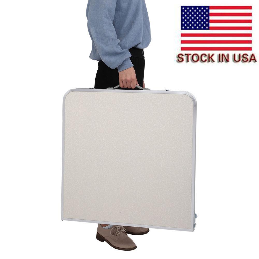 في الهواء الطلق الشواء قابلة للطي مجموعات 120 × 60 * 70 4ft المحمولة متعددة الأغراض بطول الجداول طاولة غرفة المعيشة البيضاء