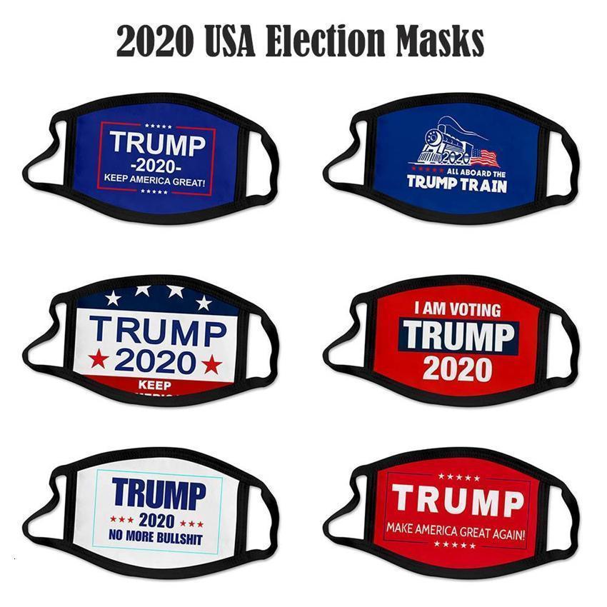 DHL Donald Trump Navire 2020 Masque Tissu anti-poussière Masques drôle coton Etats-Unis Femme Homme Mode Unisexe Lavable hiver Party 40 styles